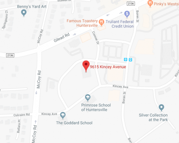 Huntersville map