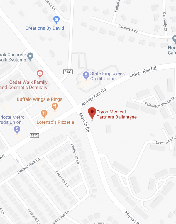 Tryon Endoscopy Center map