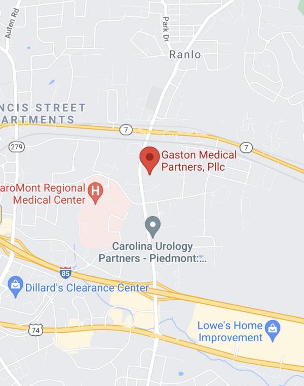 Gaston map