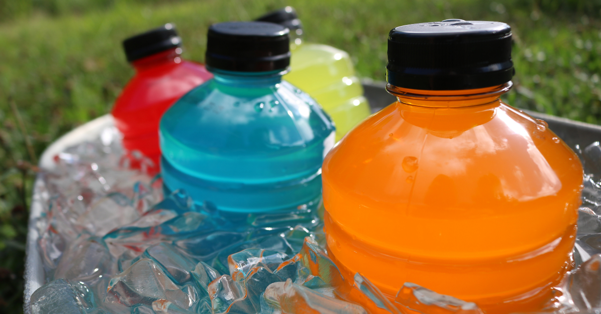 Sports drinks in ice